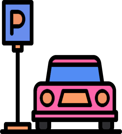 Airport Car Parking Icon